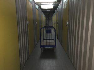 trolley in hallway